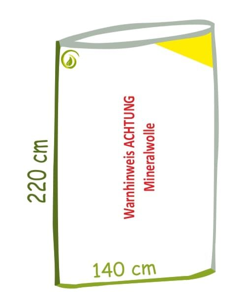 Skizze Mineralwolle Flachsack aus 100 % recycelter LDPE-Folie