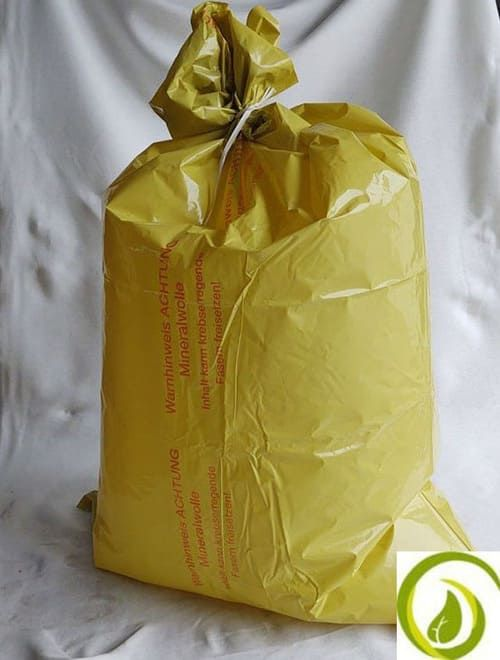 Mineralwolle Flachsack aus 100 % recycelter LDPE-Folie