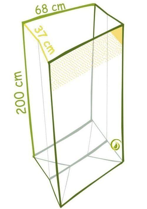 Skizze Seitenfaltensack aus 100 Prozent recycelter LDPE-Folie