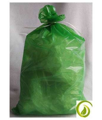 Grüner Flachsack aus 100 % recycelter LDPE-Folie