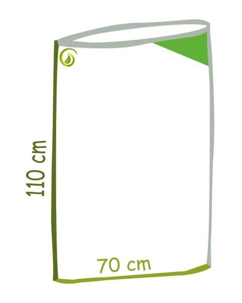 Skizze Grüner Flachsack aus 100 % recycelter LDPE-Folie