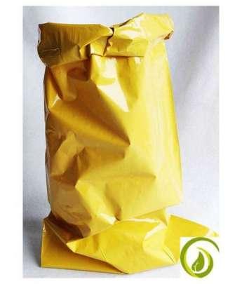 Gelber Kraftsack aus 100 Prozent LDPE Recycling-Folie