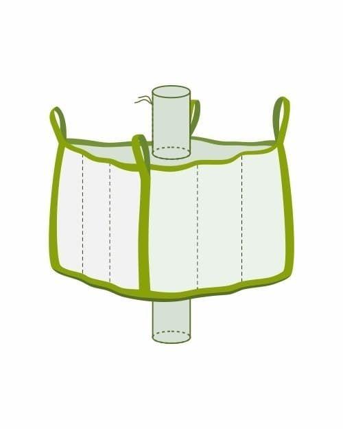 Big Bag klein mit Einlauf- und Auslaufstutzen