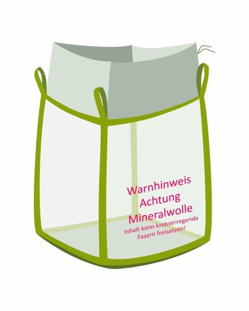 Big Bag für Mineralwolle transparent
