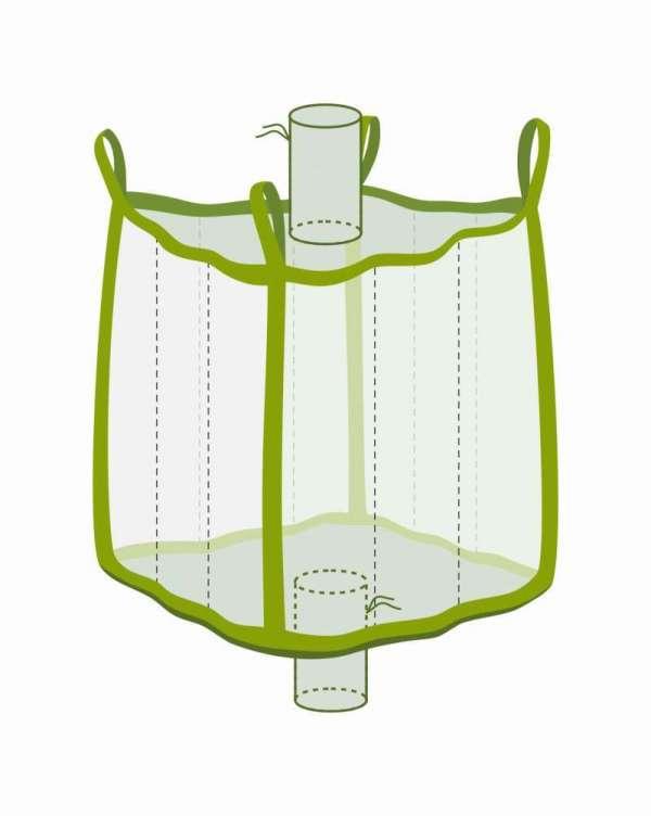 Q Bag mit Einlauf- und Auslaufstutzen, transparent