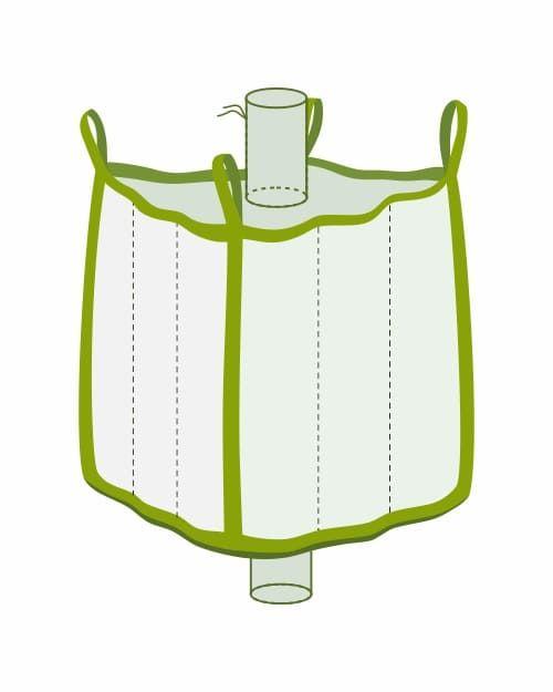 Q Bag mit Einlauf- und Auslaufstutzen