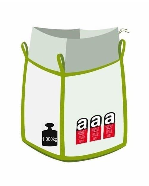 Big Bag für Asbest Abfall, 1000 kg Traglast