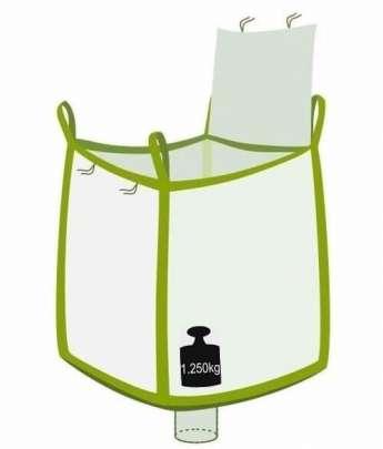 Big Bag, Deckelklappe oben, Auslauf unten, 1250 kg Tragast