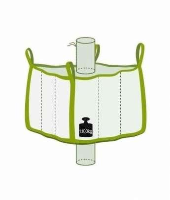 Big Bag klein mit Einlauf- und Auslaufstutzen, Traglast 1100 kg