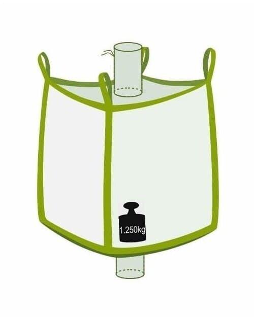 Big Bag, oben Einlauf, unten Auslauf, 1250 kg Traglast