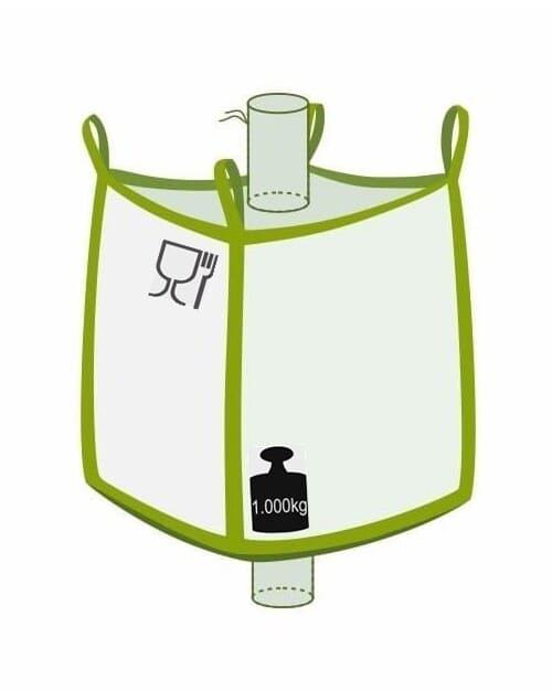 Big Bag, oben Einlauf, unten Auslauf, Foodgade, 1000 kg Traglast