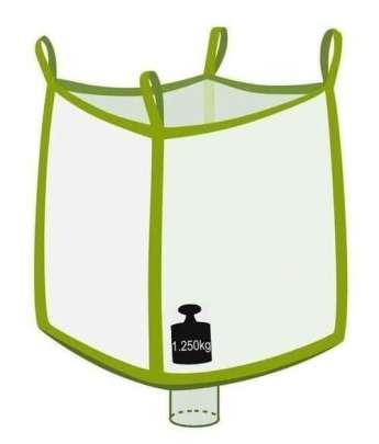 Big Bag, oben offen, unten Auslaufstutzen, 1250 kg Traglast