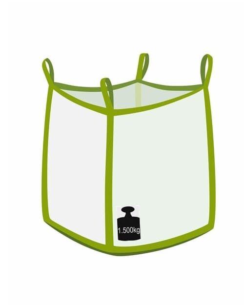 Big bag, oben offen, unten flacher Boden, 1500 kg Traglast