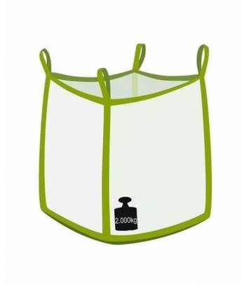 Big bag, oben offen, unten flacher Boden, 2000 kg Traglast