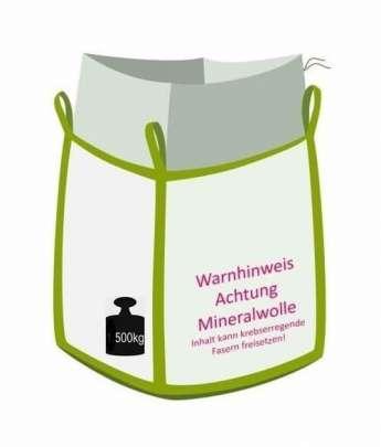 Big Bag für Mineralwollefasern, Größe XL, 500 kg Traglast