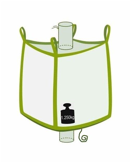 Big Bag mit Klettverschluss, 1250 kg Nutzlast