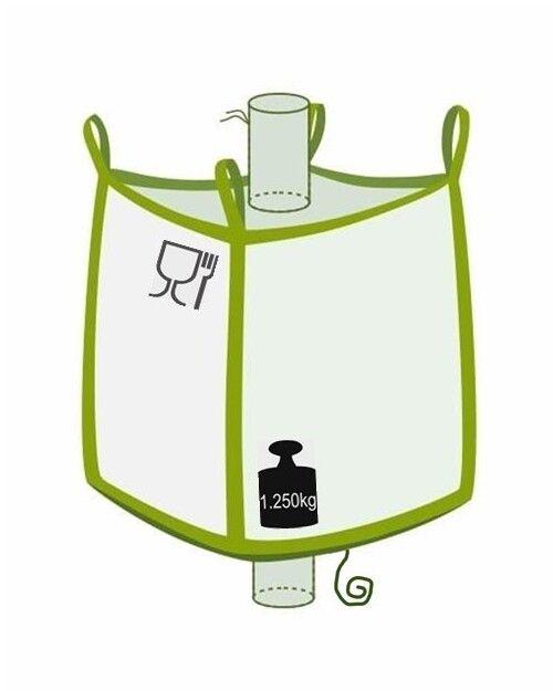 Big Bag mit Klettverschluss, 1250 kg Nutzlast, Foodgrade