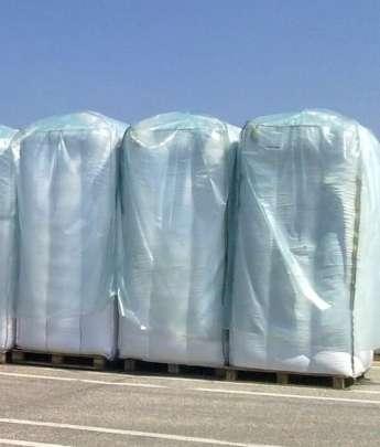 Folienüberhauben auf Big Bags